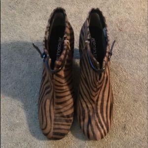 Ladies Zebra Pony Hair Boots MINT